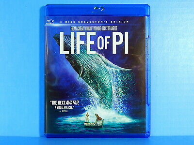 Life of Pi - 3 Disc Collector's Ed. (Blu-ray 3D, Blu-ray & DVD) LIKE NEW