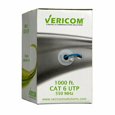 Home Audio Crossover 1,000 Vericom Cat-5E UTP Solid Riser Cmr Cable MBW5U-01555 Green Green
