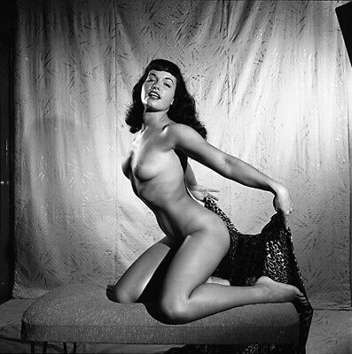 RARE Bettie Page Original 1954 Camera Negative Bunny Yeager NUDE FIGURE PIN UP
