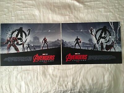 "AVENGERS ENDGAME IMAX AMC EXCLUSIVE POSTER 11"" x 15.5"" Weeks 1 & 2 Posters NEW"