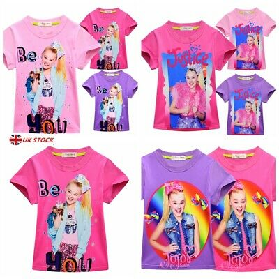 2019 NEW JOJO siwa Girls Kids Cotton Tshirts Tops TShirts Homewear Clothes Gift