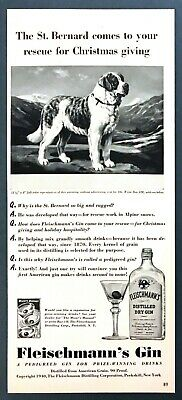 1953 FLEISCHMANN'S WHISKEY Dry Gin Peekskill NY Advertising