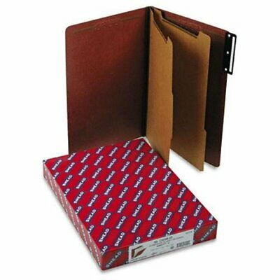 Smead 19230 Red Pressboard Classification Folder With Safeshield Fasteners -