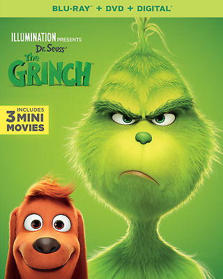 NEW!! Dr Seuss' The Grinch DVD/Blu-ray/Digital , 2019 Illumination - Free Ship
