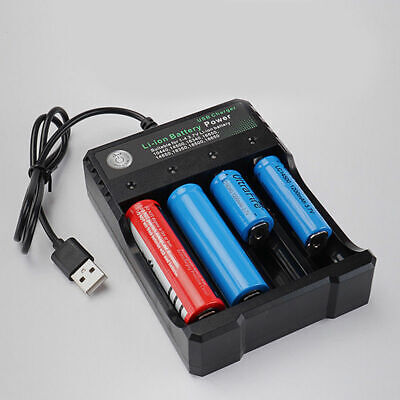 4 Slots 4X18650 Smart Universal USB Battery Charger For 3.7V Li-ion Rechargeable