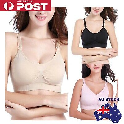 Women Hands Free Breast Feeding Pump Pumping Breastpump Maternity Nursing Bra AU