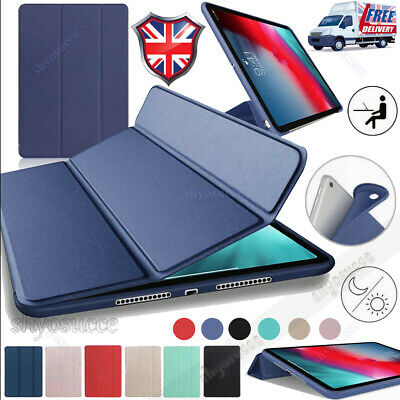 """For iPad Pro 11""""Inch 2018 Luxury Leather Smart Cover Trifold Stand Case Shell UK"""