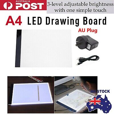A4 LED Light Box Tracing Drawing Board Art Design Pad Copy Lightbox Day&Light
