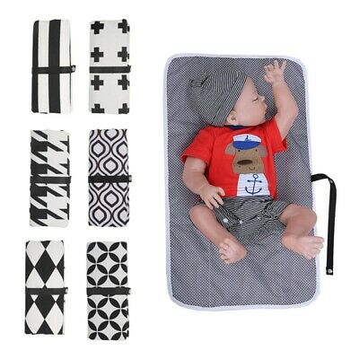 UK Baby Portable Folding Diaper Travel Changing Pad Waterproof Mat Bag Storage