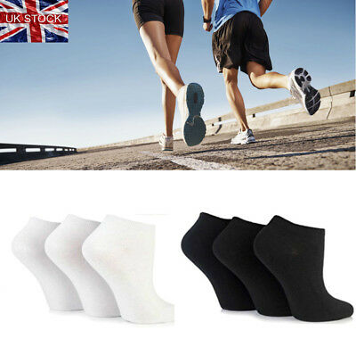 24 pairs Trainer Socks Black White Mens Womens Ankle Liner Summer Invisible LOT