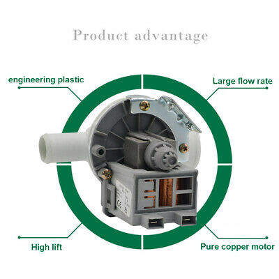 Drain Pump Motor Water Outlet Motors Washing Machine Parts For Samsung For Lg For Midea For Little Swan Drainage Pump Home Appliances