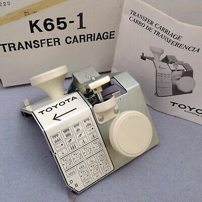 Toyota K65-1 Transfer Carriage Knitting Machine Accessory - Boxed With Manual