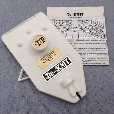 Tricot De-Knit Vintage Knitting Machine Accessory Brother Silver Reed Knitmaster