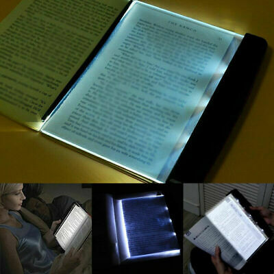 1*Portable LED Read Panel Light Book Reading Lamp Night Vision For Travel School