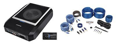 ALPINE PWD-X5 Shallow Slim Under-Seat Powered Subwoofer w/4-Channel Amp+Wire Kit
