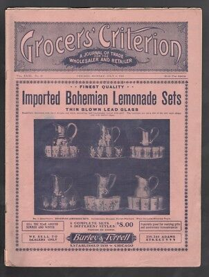 1904 Grocers' Criterion Trade Journal & Grocery Store Catalog Walter Baker Ad +