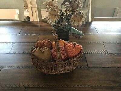Plaid Ornies Bowl Fillers PrImITive Hearts Harvest Thanksgiving Fall Farmhouse