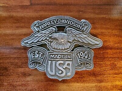 Vintage Harley-Davidson Motorcycles Made in USA Est. 1903 Eagle Belt Buckle 80s