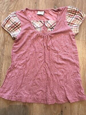 NEXT Girls Floral Patterned Cap Sleeved Smock Top - Age 8 years