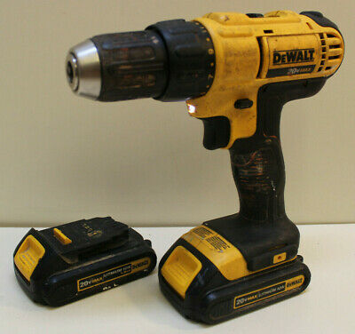"""DeWalt DCD771 1/2"""" Drill With Two 20v Batteries NO Charger - Fast Free Shipping!"""
