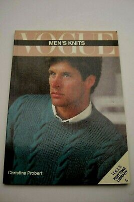 1st Ed Book Vintage Vogue Mens Knits Book 5 Knitting Patterns 1930-80s VGC