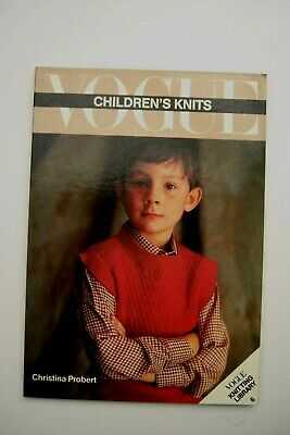 1st Ed Book Vintage Vogue Childrens Knits Book 6 Knitting Patterns 1930-80s VGC