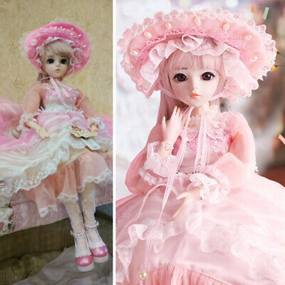 1/3 BJD Doll Ball Joints Resin Dolls With Free Outfit Face Makeup Wigs FULL SET