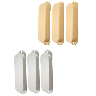 6 Pcs of Set Sealed Close Style Single Coil Pickup Cover for Electric Guitar