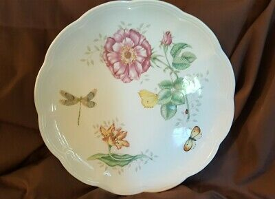 Lenox China BUTTERFLY MEADOW Dragonfly LARGE Dinner Plate 10.5