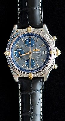 117849679cd BREITLING Chronomat B13050.1 SS & 18k Chronograph Automatic Watch w/ New  Band