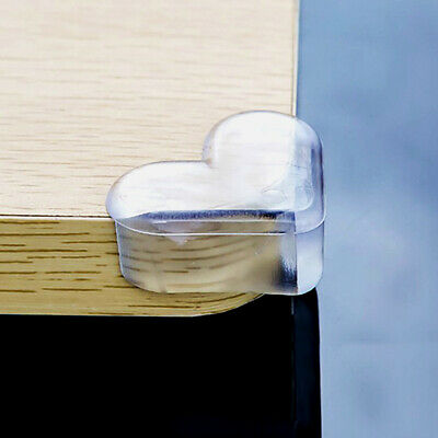 4pcs Heart Shape Child Safety Corner Protector Desk Table Edge Protection Cover