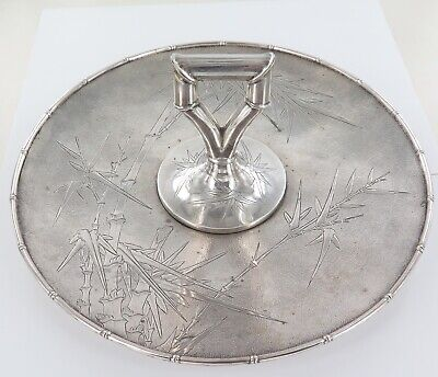 .Stunning Vintage Sterling Silver Japanese Export Ware Serving Tray. 710 Grams