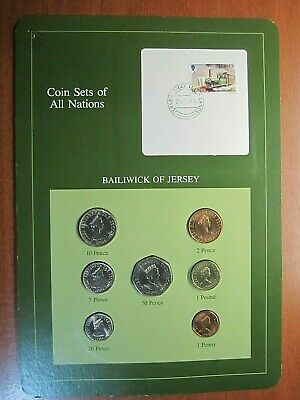 Coin Sets Of All Nations Bailiwick Of Jersey 7 Coin Set 1984 1985