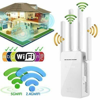 300/1200Mbps Dual-Band Extender Wireless WiFi Repeater Signal Booster Network