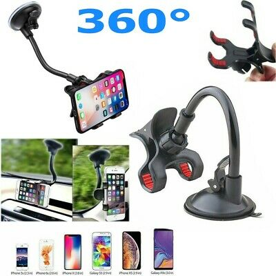 Universal Car Windshield Mount Holder Stand For Cell Phone iPhone Samsung S9 GPS