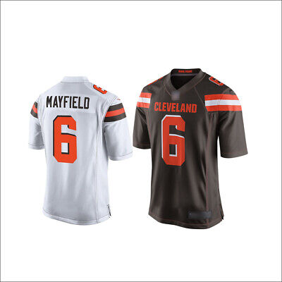 732c2c09545 Men s Cleveland Browns NO.6 Baker Mayfield 2019 Jersey Brown White M-3XL