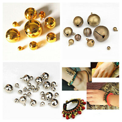 Gold/Silver/Brass Jingle Bells Charm Bead Findings DIY Decor Crafts 6mm-28mm New