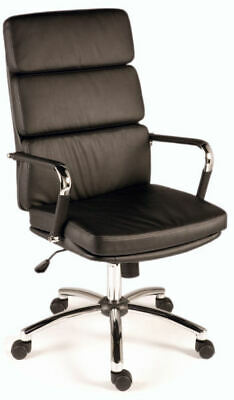 DECO Black Executive High Back Retro Eames Style Office Swivel Computer Chair