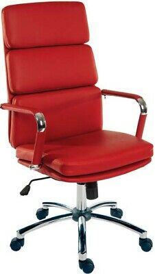 DECO Red Executive High Back Retro Eames Style Office Swivel Computer Chair