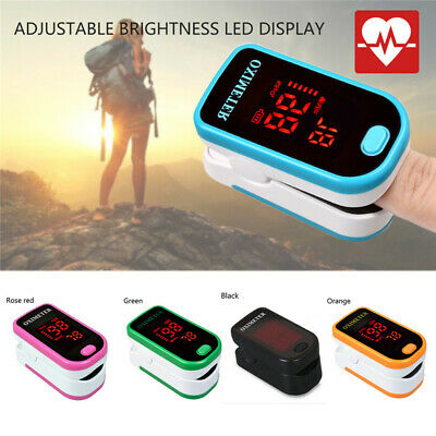 Finger Pulse Oximeter Blood Oxygen Saturation SPO2 Heart-Rate O2 Patient Monitor