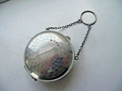 ANTIQUE 1913 STERLING SILVER HALLMARKED ROUND PURSE COIN HOLDER BLANK 44.1gr