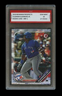 VLADIMIR GUERRERO JR. 2019 BOWMAN PROSPECTS (Topps) 1ST GRADED 10 ROOKIE CARD RC