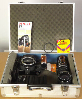 Gorgeous Nr Mint Pentax 6x7 Camera System - 2 Lens +