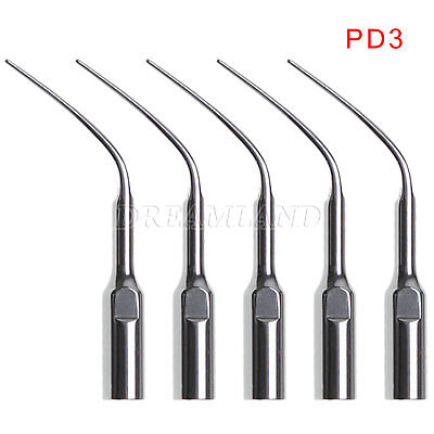 5X Dental Perio Scaling Tips PD3 for DTE SATELEC Ultrasonic Scaler USA USPS**