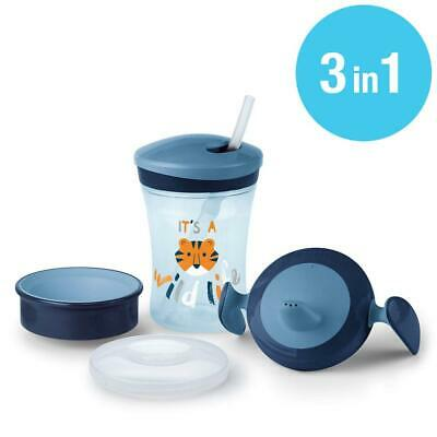 NUK 10255396 Learn to Drink Set 230 ml Leak-Proof from 6 Months BPA-Free...