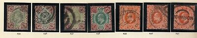1902-1910 EDWARD 7TH specialised 4d SG 235-241 COMPLETE USED