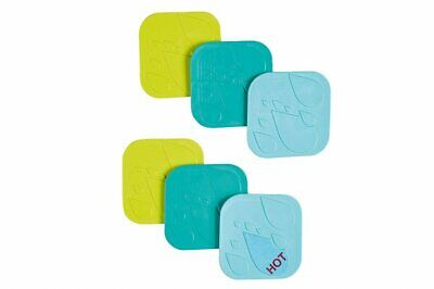 Safety 1st Anti-Slip Bath Pads Pack of 6 Baby Bathing Toddler Infant Accessory
