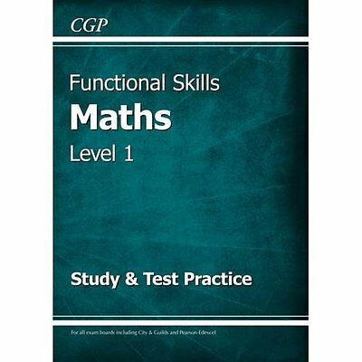 Functional Skills Maths Level 1 - Study & Test Practice - Paperback NEW Books, E