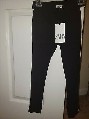 c0ca1d38da Girls Brand New Zara Legging, black with a white stripe down the side. Size