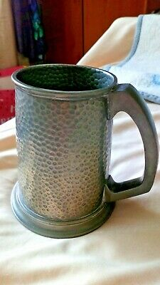 Howard Pewter Walker & Hall Sheffield Tankard Hammered Dimple Style Vgc 12Cm